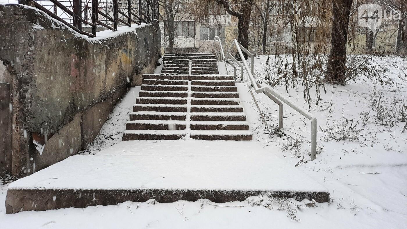 В Киеве начался снегопад. Какая ситуация на дорогах, ФОТО, фото-3