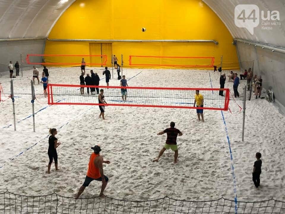 В столице появился первый в Украине центр пляжных видов спорта.