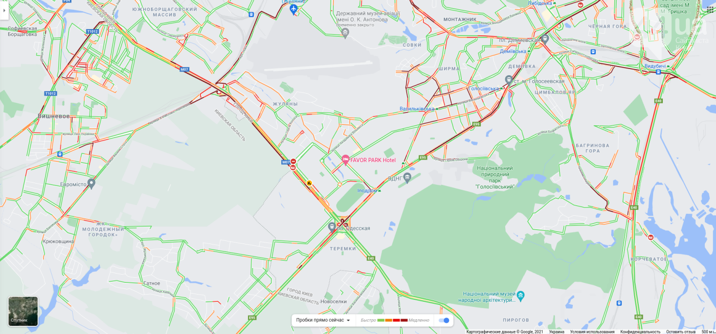 Все бегут из города: пробки в Киеве сейчас составляют 10 баллов , фото-3