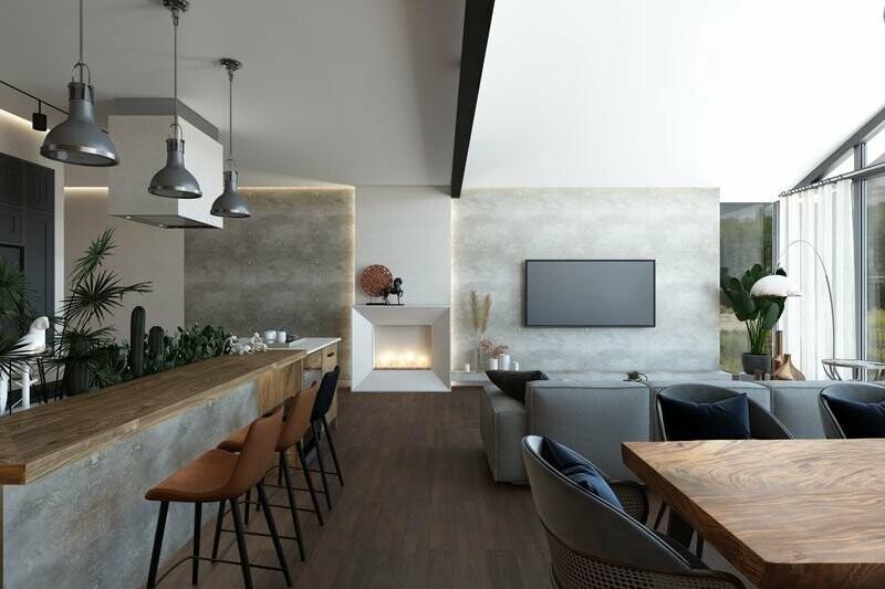Эко стиль в дизайне интерьеров - практичные идеи от студии ANNGLI, фото-1