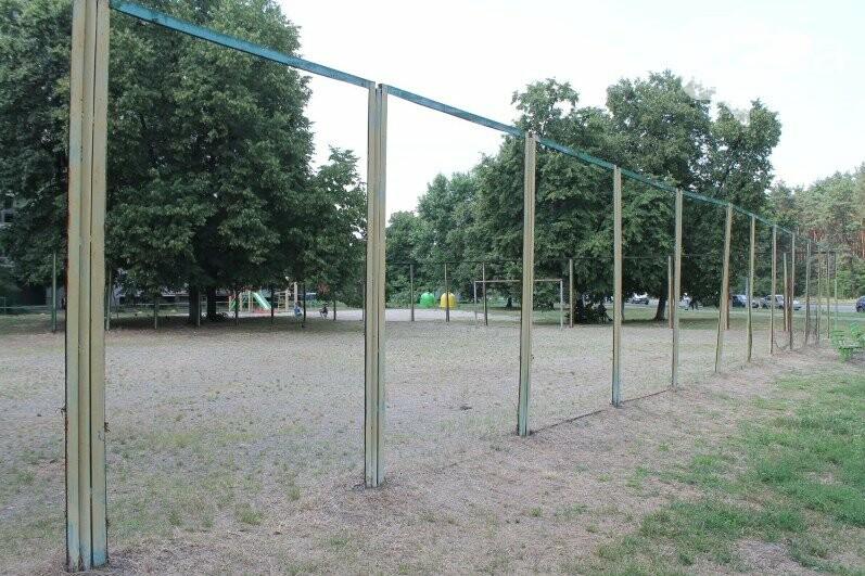 Обустройство футбольного поля на Лесном массиве, Источник: facebook-страница Деснянской РГА