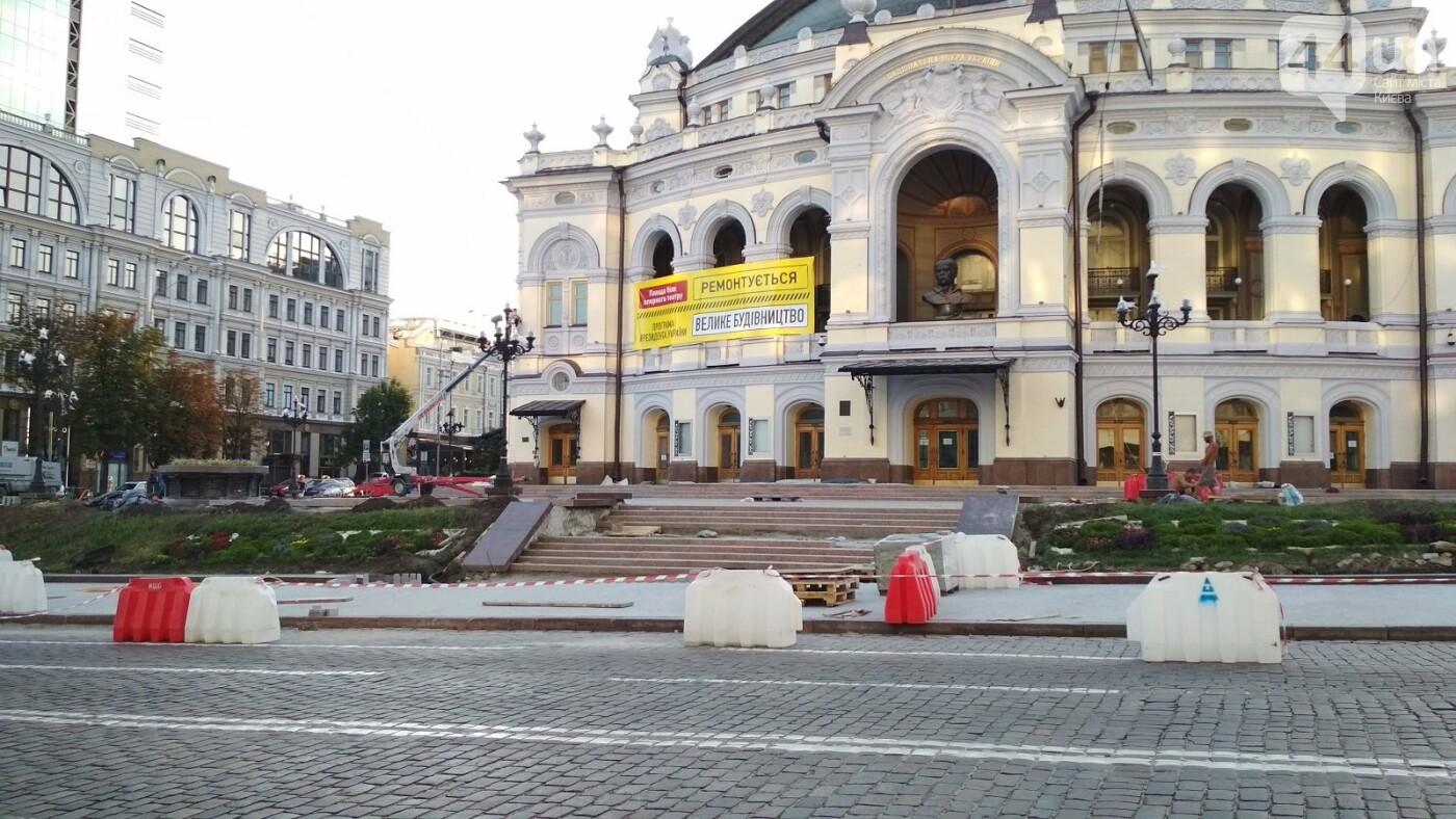 Реконструкция площади возле театра