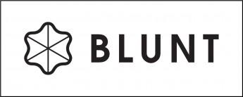 Логотип - BLUNT - зонты, которые действительно работают