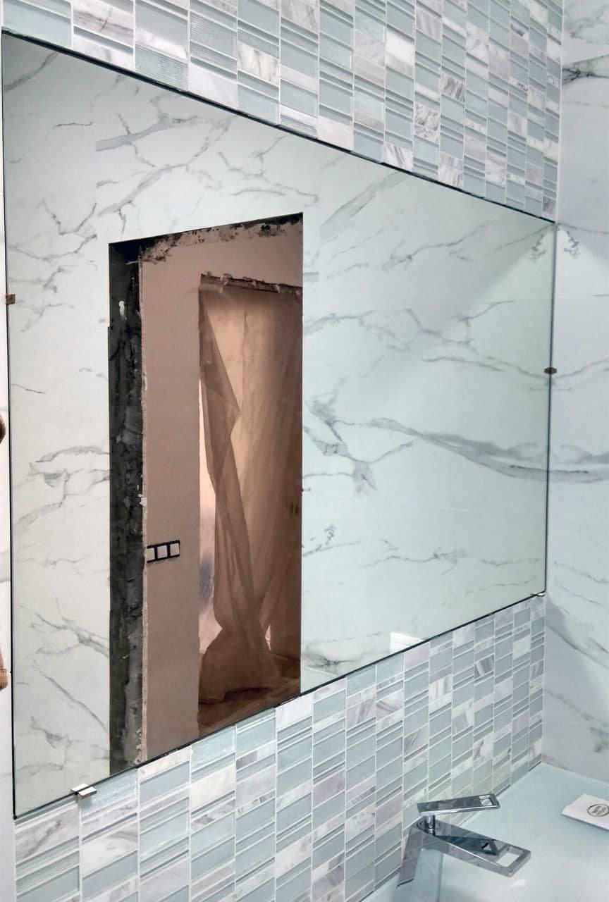 Зеркало в нишу заподлицо с плиткой, фото-6