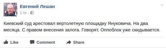 Вертолетная площадка Януковича арестована: реакция соцсетей, фото-1