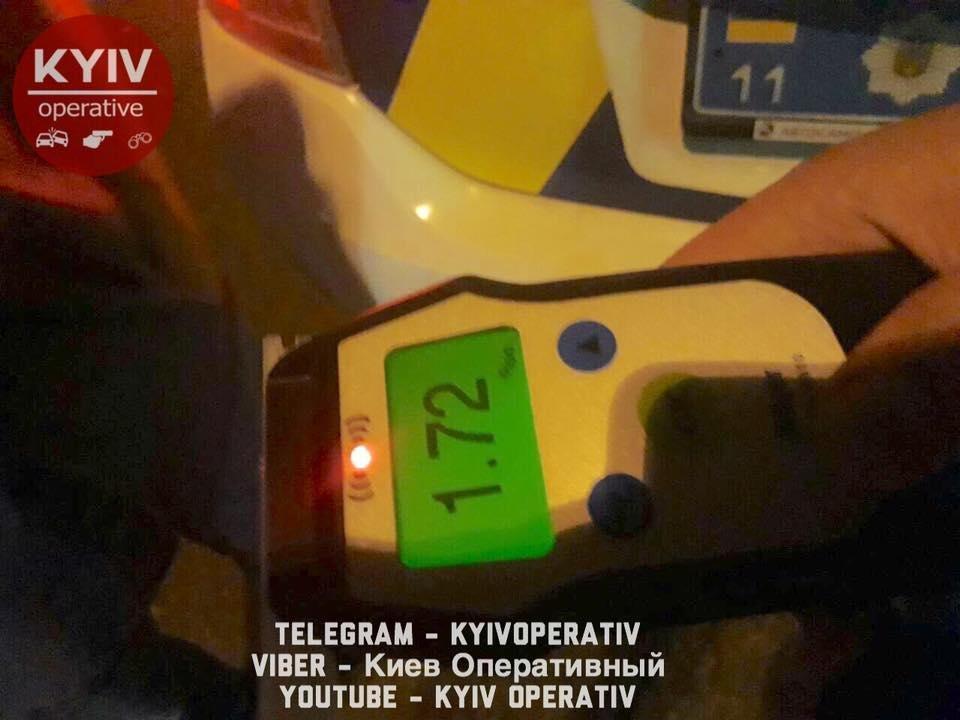 Дважды за 20 минут: в Киеве повторно задержали пьяного водителя, фото-1