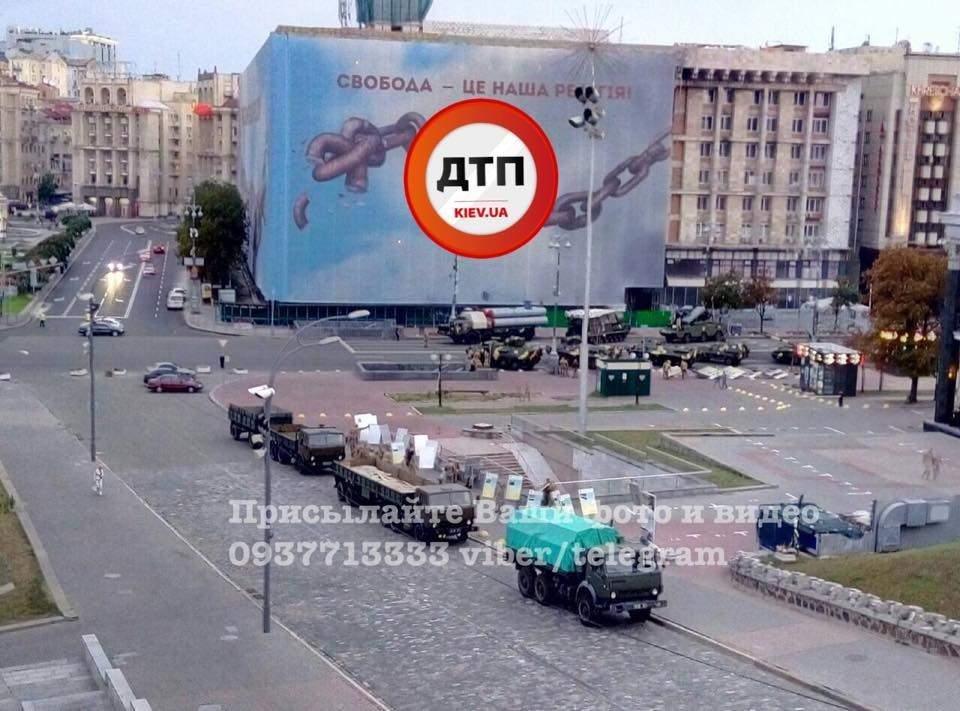 На Крещатик свозят военную технику (ФОТО), фото-4