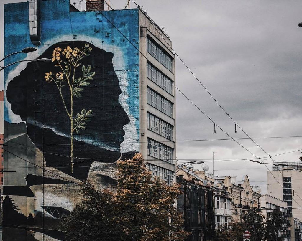В Киеве появился мурал, посвященный поэме Леси Украинки (ФОТО), фото-1
