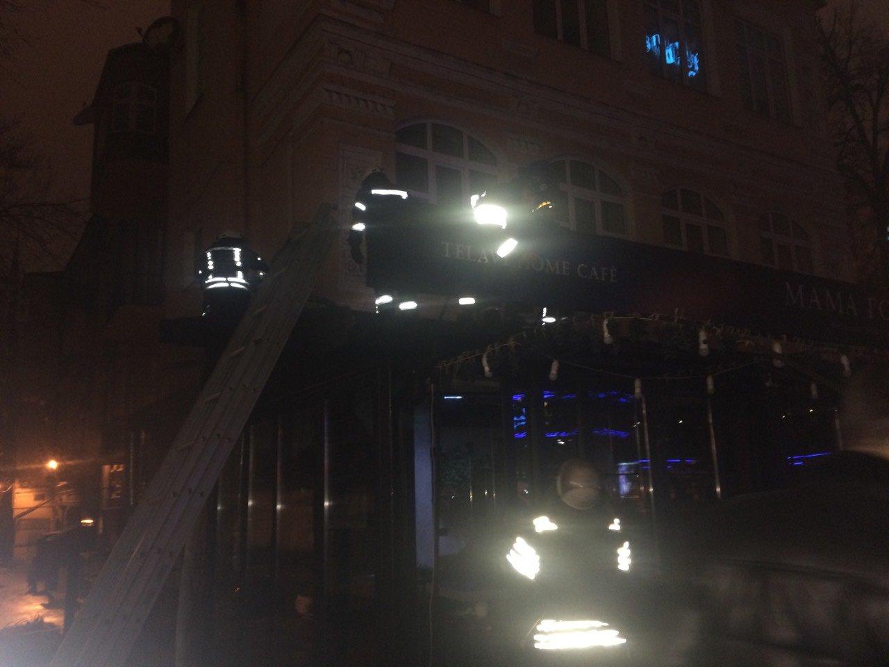 В центре Киева горело кафе (ФОТО), фото-1