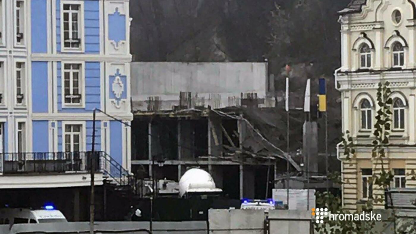 На Воздвиженке обрушилось перекрытие недостроя (ФОТО), фото-1