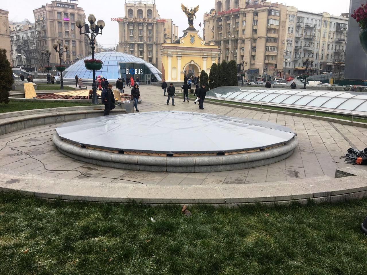 Фонтаны на Майдане подготовили к зиме (ФОТО), фото-2