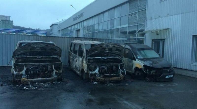 В Киеве сгорели полицейские машины (ФОТО), фото-1