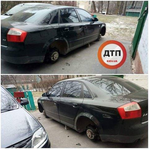 В Киеве с припаркованных авто воруют колеса (ФОТО), фото-1