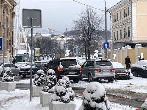 Киевские автохамы запарковались в 4 ряда, фото-2