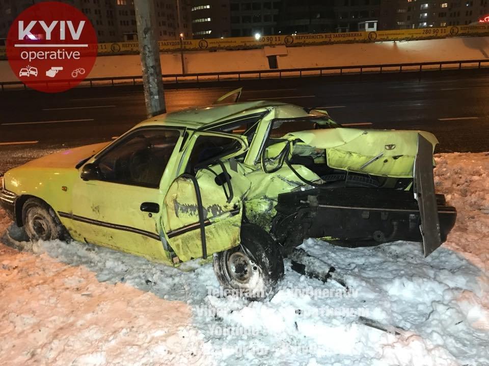 В Киеве Audi догнал Daewoo: водитель в тяжелом состоянии (ФОТО), фото-6