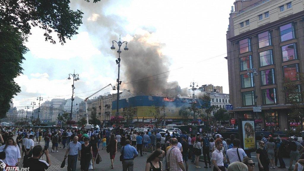 Наследие в огне: в Киеве горят исторические здания, фото-8