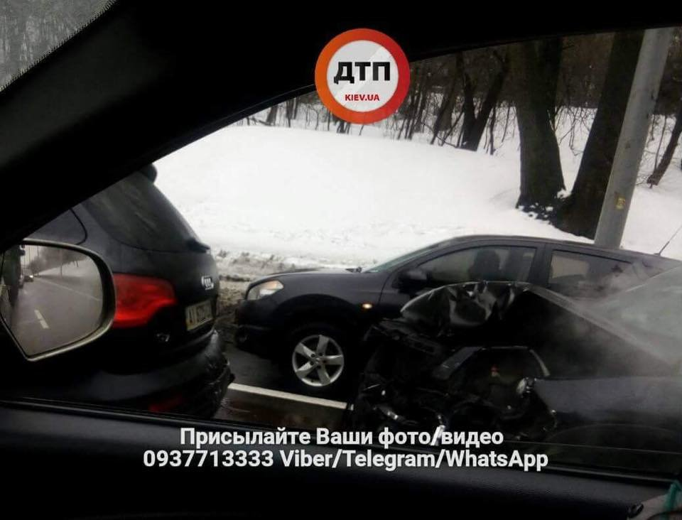 Массовое ДТП в Киеве: столкнулись 7 машин (ФОТО), фото-1