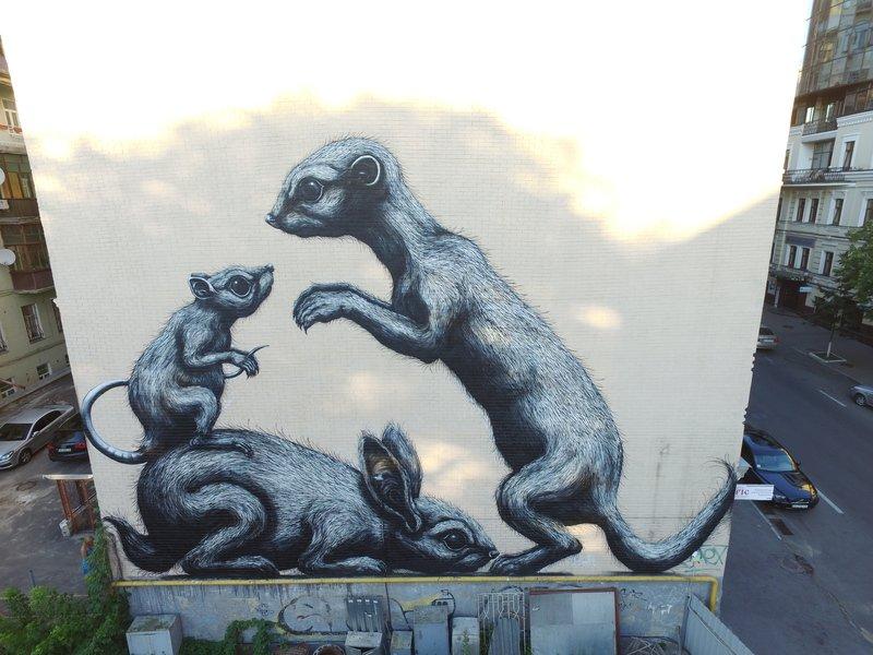 Картины на стенах: муралы Киева с изображением животных, фото-3