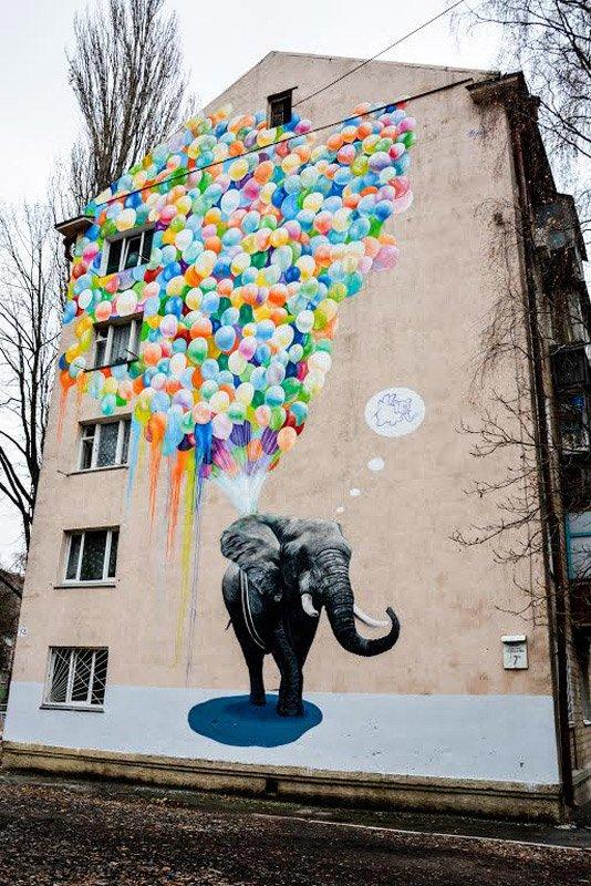 Картины на стенах: муралы Киева с изображением животных, фото-5