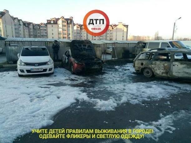 Под Киевом сгорело 5 автомобилей, фото-3