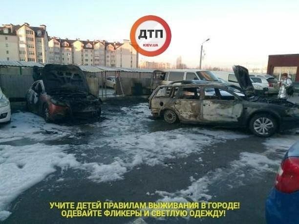 Под Киевом сгорело 5 автомобилей, фото-1