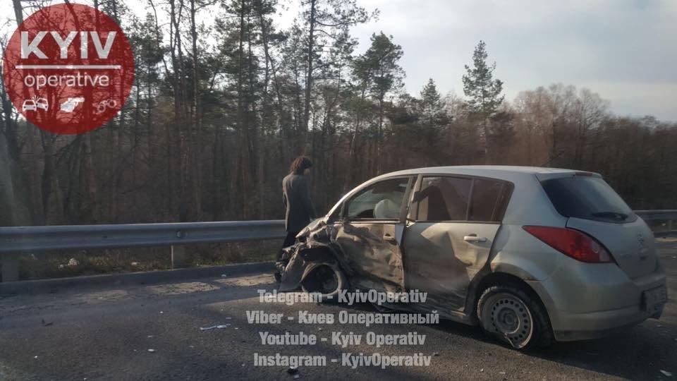 Под Киевом произошло тройное ДТП (ФОТО) , фото-2