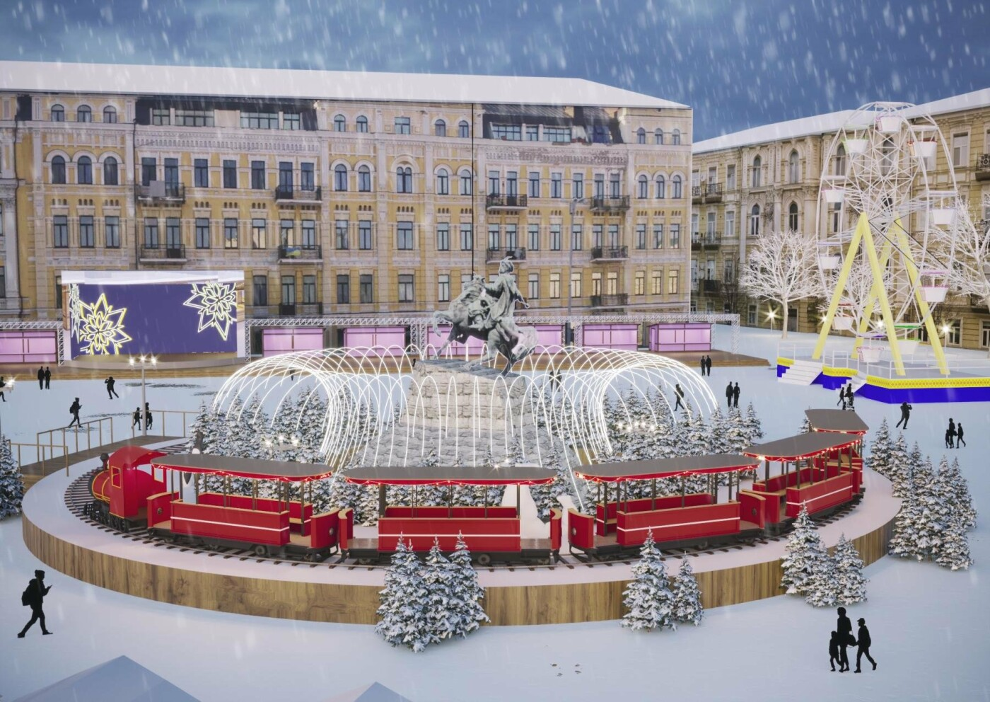 Как будет выглядеть главный новогодний городок Киева: появились первые фото, фото-7