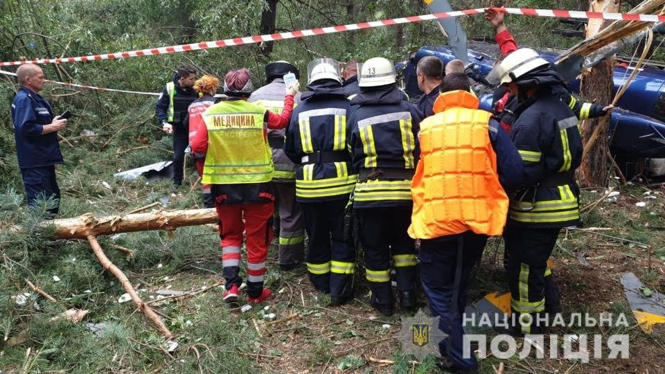 Крушение вертолета в Киеве: полиция рассказала, как экипаж избежал гибели, фото-3