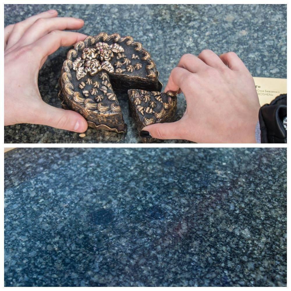 На Крещатике исчез мини-памятник Киевскому торту, фото-1