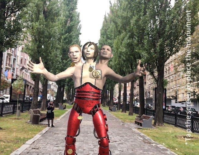 Пенсия в биткоинах и невидимый памятник: в Киеве прошла виртуальная акция, - ФОТО, фото-2