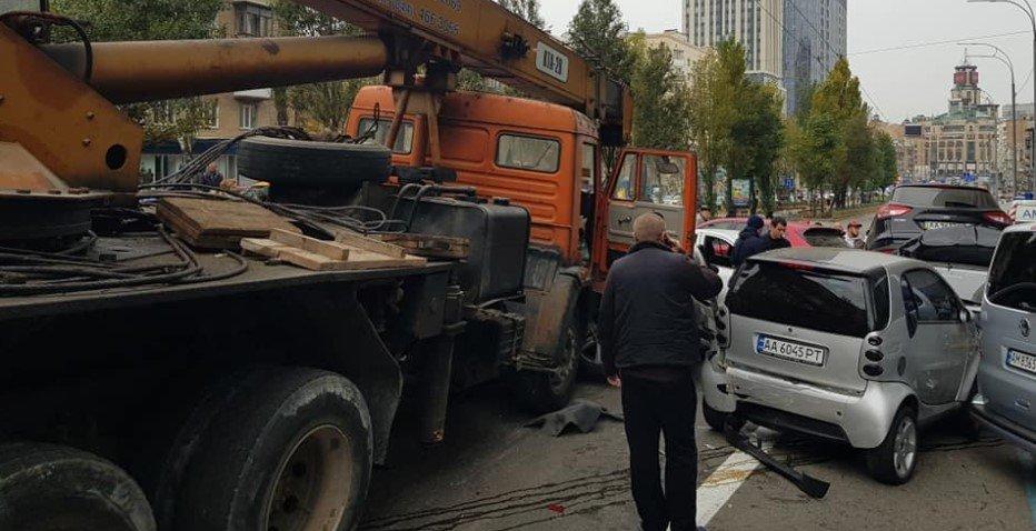 В центре Киева столкнулись 11 автомобилей, - ФОТО, фото-6
