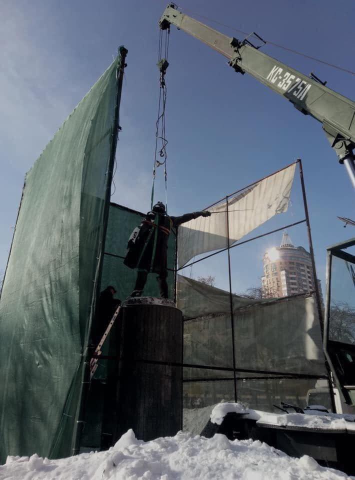 Снесенный памятник Суворову в Киеве отправят в Швейцарию, фото-1
