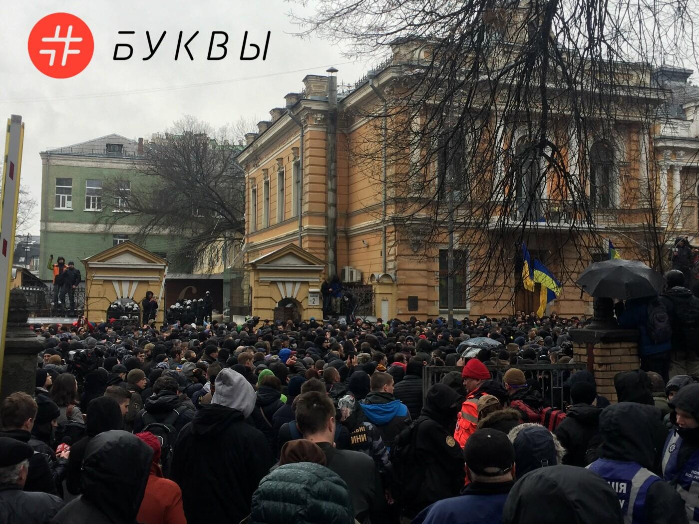 Митингующие активисты забросали игрушечными свиньями здание Администрации Президента, - ФОТО, фото-3