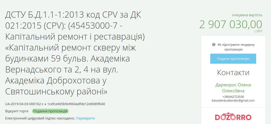 В Киеве хотят провести реконструкцию двух скверов за 21 млн, фото-1