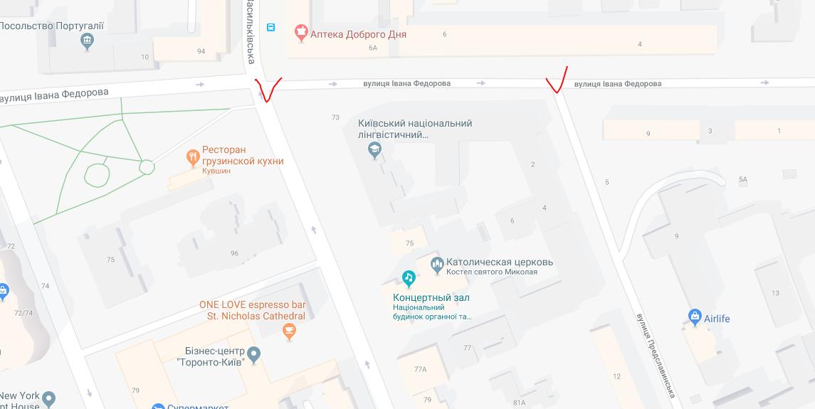В центре столицы до мая перекроют участок дороги возле Большой Васильковской, фото-1