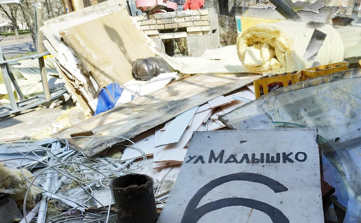 Кафе-бар с танцполом: в киевском парке демонтируют огромный МАФ, - ФОТО, фото-6