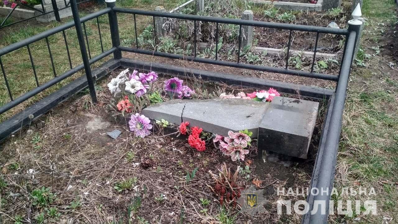Четверо пьяных подростков на Киевщине устроили погром на кладбище, - ФОТО, фото-2