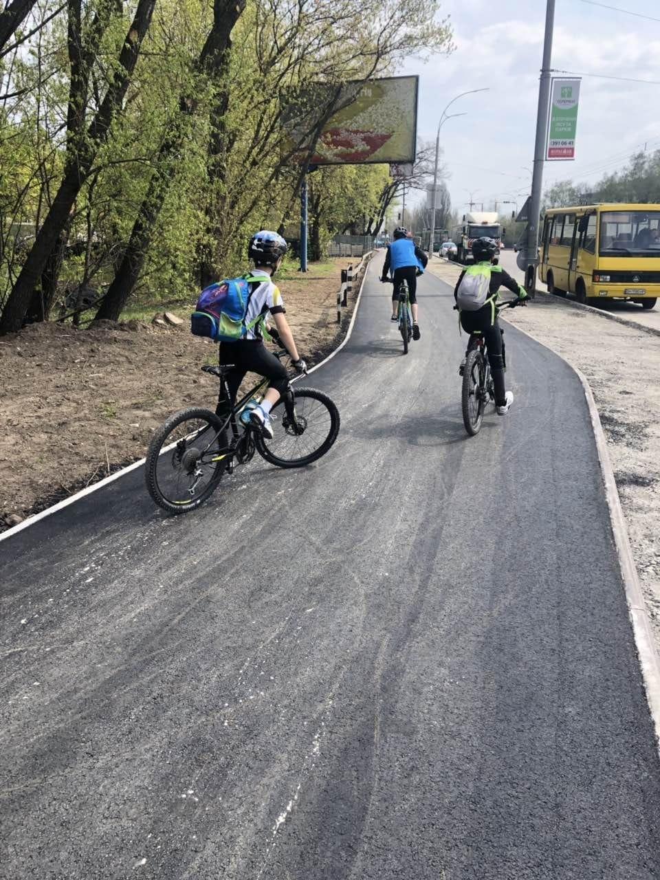 В Киеве почти доделали новую велодорожку, - ФОТО, фото-2