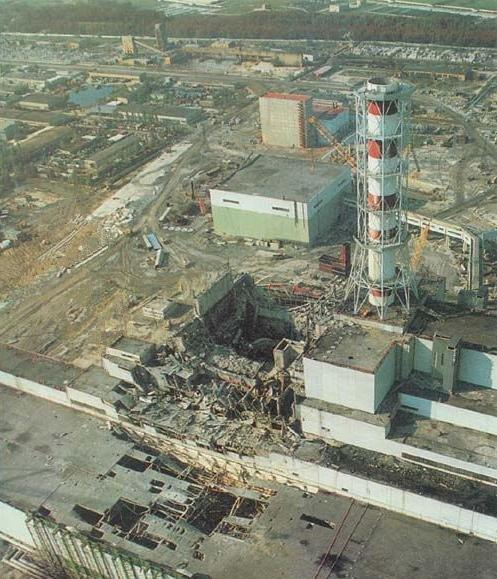 Разрушенный 4-й энергоблок - Фото: wikipedia.org