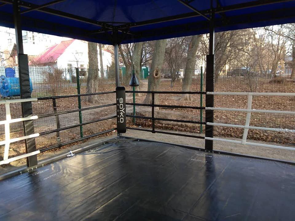 В Шевченковском районе Киева появился общедоступный боксерский ринг, - ФОТО, фото-2