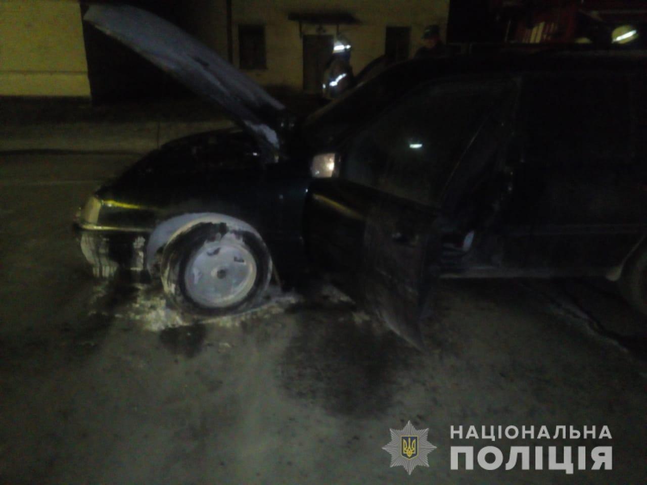 На Киевщине на АЗС загорелся автомобиль, - ФОТО, фото-1