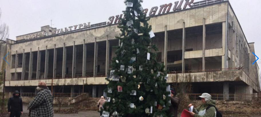 Впервые после взрыва на ЧАЭС: в Припяти установили новогоднюю ёлку, - ФОТО, фото-1, Фото ZIK