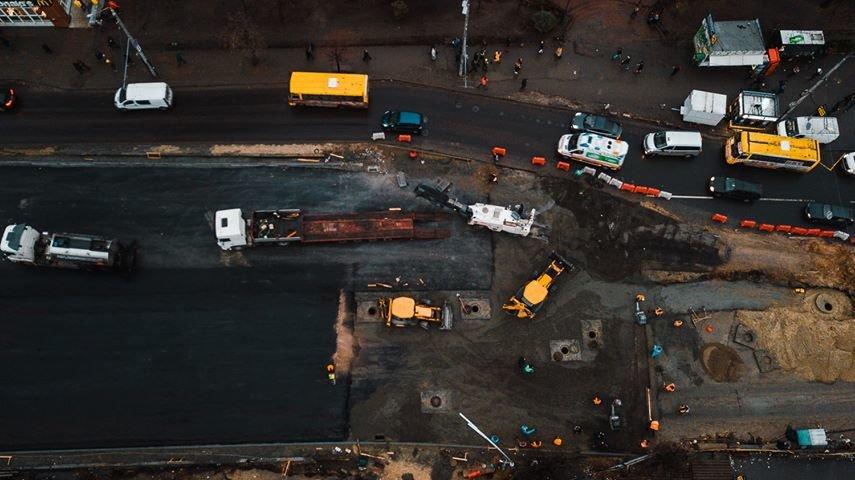 Как выглядит строительство Шулявского моста в Киеве с высоты птичьего полета, - ФОТО, фото-1, Фото: Alexey Dudkov