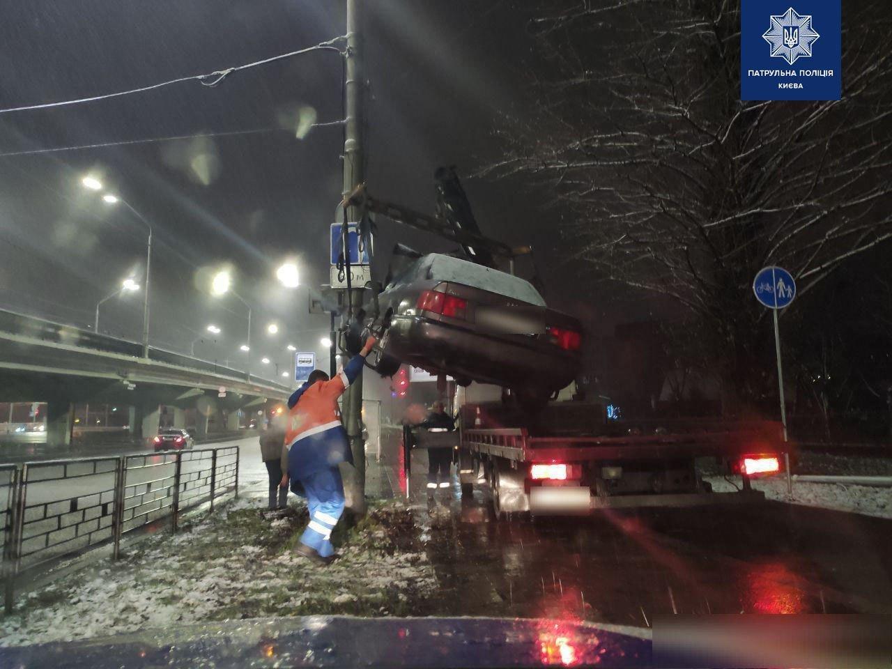Новогодний корпоратив закончился ДТП на проспекте Победы, - ФОТО, фото-1