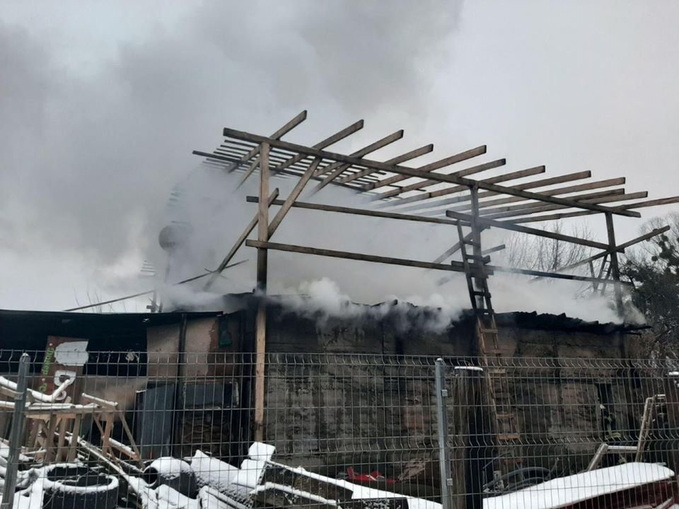 На проспекте Науки в Киеве горела СТО, - ФОТО, фото-2, Фото ГСЧС в Киеве