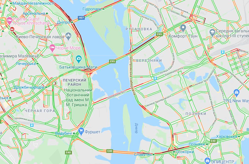 Пробки в Киеве: посмотреть на картах Google, фото-3