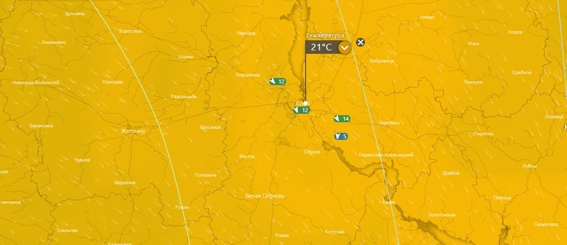 погода в Киеве 8 июля