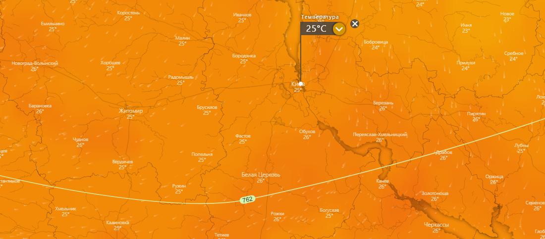 погода в Киеве 19 июля, https://www.windy.com