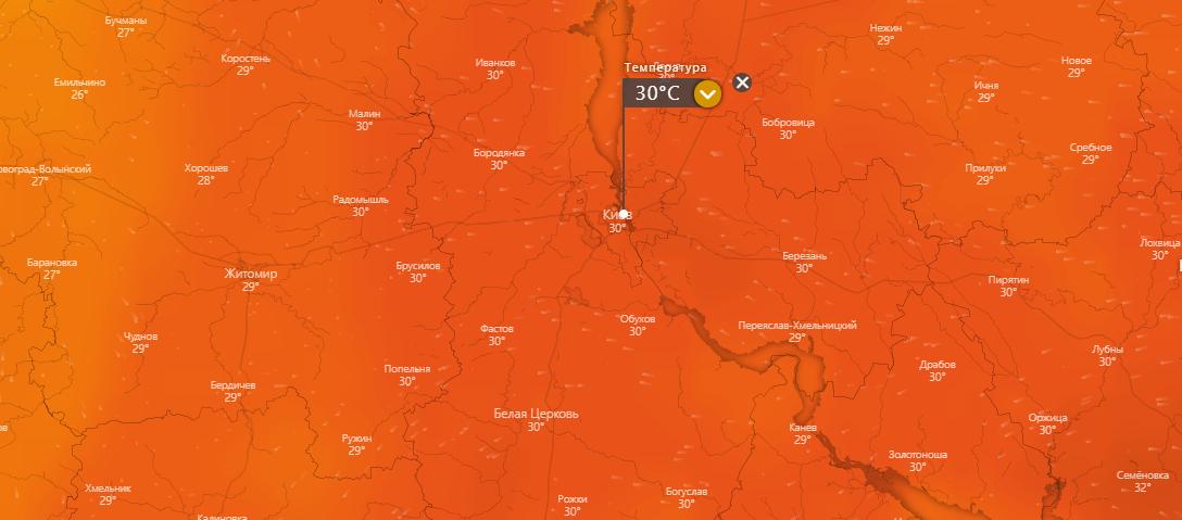 погода в Киеве 27 июля