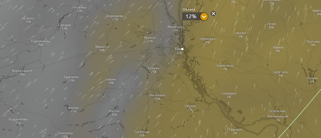 погода в Киеве 29 июля